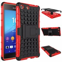 aqua shell - For Sony Z2 Z3 Z4 z5 mini Compact M4 Aqua M5 E4G Armour Defender Case Hybrid silicone PC Rubberized Shell With stand Hard Shockproof Cover