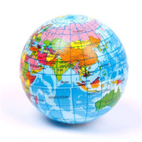 animals atlas - New World Atlas Geography Map Earth Globe Stress Relief Bouncy Foam Ball Kids Toy A5
