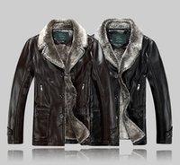 australian jackets - Fall Top quality men leather jacket sheepskin wool Australian lamb fur coat genuine leather jaqueta masculina couro winter jacket men