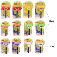 Wholesale 12 Styles Professional Pet Dog Cat deShedding Tool Pets Brush Pets Grooming Comb Dog And Cat Cleaning Tool