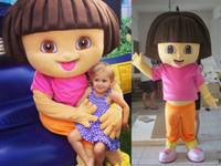 Wholesale 3D The Explorer Dora Mascot Costume Adult Character Costume Fancy Dress