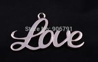 achat en gros de connecteurs à débordement d'or-50pcs / lot 40 * 24mm plaqué or Amour Infinity Connecteur Charms