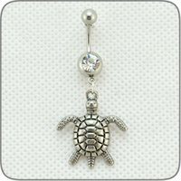 Wholesale Fashion Navel Piercing Stainless Steel Belly Navel Ring Sea turtles Women Jewelry