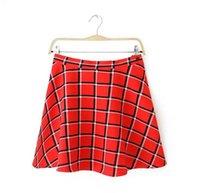 Wholesale New Arrival Women Plaid Skirt Summer Casual Slim Skirt Elegant Trumpet Shape Skirt Prom Gown Mini Skirt Hot Sale AA8083