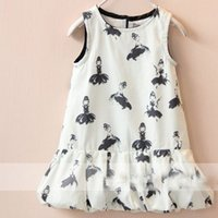 dolls clothes - 2015 Summer New Collection Stylish Childrens Clothing Baby Girls Pretty Sleeveless Baby Doll Dresses Girls Kids Fashion Zipper For Back
