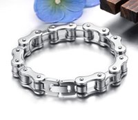 Men's bicycle chain jewelry - Punk L Stainless Steel Bracelet Men Biker Bicycle Motorcycle Chain Men s Bracelets Mens Bracelets Bangles Fashion Jewelry
