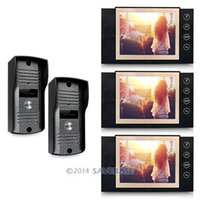 video door entry system - HOMSECUR Hardwired quot LCD Video Door Phone Intercom System Home Entry Security