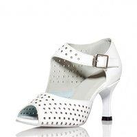 Wholesale Women s Salsa Dance Shoes Latin Ballroom Tango Dancing Shoes For Women Light Up Adult Shoes Peep Toe Buckle Customize Shoe Spain