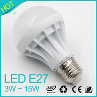 Wholesale LED Bulbs E27 Globe Bulbs Lights W W W W W W SMD2835 LED Light Bulbs Warm Pure White Super Bright Light Bulb Energy saving Light