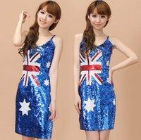australian photo - Sequins uniform temptation Nightclub costumes uniforms appeal Stage photo under the Australian flag marvel select aparel