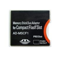 Active ad memory - 50pcs For Sony Memory Stick Duo Adapter MS to Compact flash CF Type II Adapter AD MSCF1 By Fedex