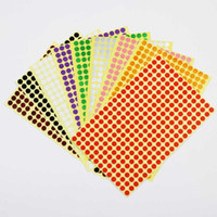 Wholesale 8 mm Blank Round Adhesive Sticker For Different Colour products Gift stickers label