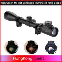 Wholesale 2016 LEAPERS UTG X40 Hunting Scopes Riflescope FULL SIZE MIL DOT TACTICAL OPTICS SCOPE SCP AOMDLTS for hunting gifts