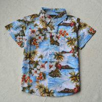hawaiian shirts - New arrival cotton floral shirt short sleeve hawaiian shirt aloha shirt for boy whole sale pieces a N03