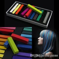 Wholesale Hot selling Mix colors Hair Care Salon Chalk Hair Chalk Temporary color Dye Pastel Hair Chalk JF B2