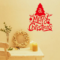 Wholesale 2015 new santa claus Father Christmas tree Wall Sticker decoration supply Home Decor Decals Wallpaper