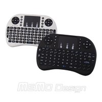 mini pc notebook - Mini Keyboard Russian English Air Mouse MultiMedia Remote Control Touchpad Handheld for Android TV BOX Notebook Mini PC Rii mini i8 pc free