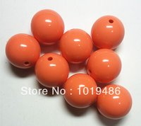 big chunky coral necklace - bright coral color MM Big Chunky Gumball Bubblegum Acrylic Solid Beads Chunky Beads for Necklace