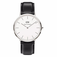 watch - 2015 Top Brand Luxury Women Daniel Wellington Watches DW Watch For Men Leather Strap Military Quartz Wristwatch Clock Dail Diameter mm DW2