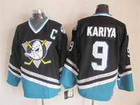american apparel discount - Ducks Kariya Black Hockey Jerseys With C Patch Best Quality American Hockey Player Jersey New Arrival Cheap Discount Brand Hockey Apparel