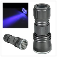 Cheap UV Ultra Violet Blacklight 21 LED 395 nM Flashlight Torch Lamp Light