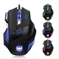 Wholesale New Arrival DPI Button LED Optical USB Wired Mouse Gamer Mice computer mouse Gaming Mouse For Pro Gamer