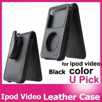 apple video clips - FedEx black PU Leather protective Case For Apple iPod Video classic G and G with movable clip