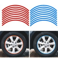 Wholesale Reflective Decals Car Motorcycle Bike Rim Stripe Tape Wheel Decal Tape Automobiles Accessories Stickers Wholesales
