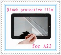 Wholesale 9 inch Ultra Clear Protective Films For quot Android Tablet PC Full Screen Size mm x141mm for A23 A13 MQ500