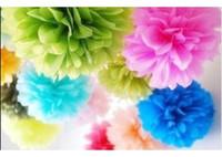 Wedding best paper wall decoration - 12 inch Best Wedding Decoration Paper Pom Pom Blooms Tissue Paper Pom Poms Flower Balls
