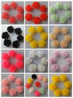 Wholesale Hot sale mm bag Mixed Color Resin Flower Resin Rose Flatback Resin Flower For DIY Phone Decoration Garment Accessories