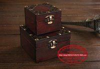 arts and crafts copper - 2PCS cm cm Creative Ancient Copper Suit Box Classic Jewelry Shooting Props Packaging Arts and Crafts