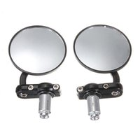 Wholesale Pair inch Motorcycle Cafe Racer Bobber Bar End Mirrors For Honda Suzuki for Yamaha KTM for BMW Street bikes Sportsshipping