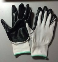 nitrile coated gloves - 6 Pairs Nitrile Coated Gloves Work Gloves CJB Black Nitrile Palm