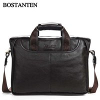 Wholesale genuine leather men shoulder bags Quality Guaranteed Bostanten bag Authentic brand men bag