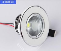 Wholesale HOT Super W Warm white white cool white COB LED Down Light with CE RoHS Approval LED Recessed LED Ceiling Downlight AC85 V