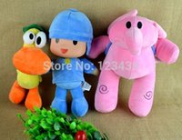 Wholesale 3pcs Cartoon Stuffed Animals Plush Toys Hobbies Elly Pato plush toy