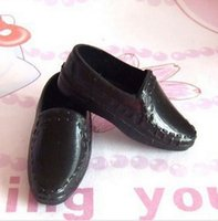 Wholesale Fashionable Imitation Leather Shoes For Male Barbie Dolls Prince Ken Shoes Doll Shoes Black Color Doll Accessories