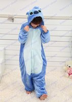 animal dress games - Hot Sale Blue stitch Anime Cosplay Kids Children Boy Girl Unisex Pajama Onesie Party Halloween Costumes Dresses Jumpsuits