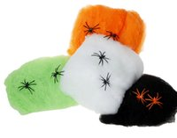 Wholesale 500pcs Halloween Spider Silk Cobwebs Accessories Cosplay Makeup Party Bar Scene Funny Props Supplies Party Decoration