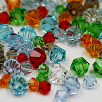 Wholesale New Hot Promotion mm Bicone Crystal Beads Loose Beads Round Spaer Glass Beads for Jewelry Making PS BBA005