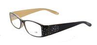Wholesale Plastic Reading Glasses Full Frame Fashion Reading Glasses Black Color Frame High Quality Reading Glasses for Women X2001