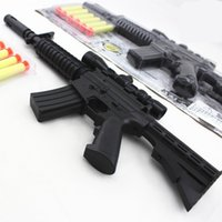 assault rifle guns - New M4A1 assault rifle plastic nerf guns toy EVA Foam bullets Imitation for kids Safe sniper rifle toy Submachine gun SA187