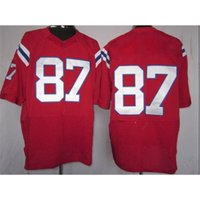 Cheap Football Apparel #87 Red Elite American Football Jerseys New Style Comfortable Mens Football Uniforms Cheap Football Wears