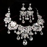 Wholesale Bridal Jewelry high grade Crystal fashion gifts parure joyas schmuck costume jewelry sets women