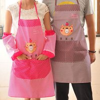 Wholesale Wholesales Hot Selling Cute Cartoon Women Bib Cooking Aprons Kitchen Ladies Chefs Apron with Double Pockets JE0159 Salebags