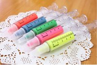 Wholesale Fashion cute Liquid Chalk Pen Syringe Highlighter Watercolor Pen Korean Office School Stationery pen