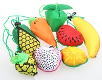 Wholesale 85Styles New Cute Useful Animal Fruit Fish Dog Pig Banana Foldable Eco Reusable Shopping Bags cm x37cm
