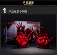 Wholesale Iron Man Gloves with LED Light PVC Action Figures Collectible Model Toy pair
