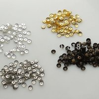 Wholesale Bead Caps Hollow Flower End Caps Gold Bronze Silver Rhodium Plated mm For Jewelry Making F2403